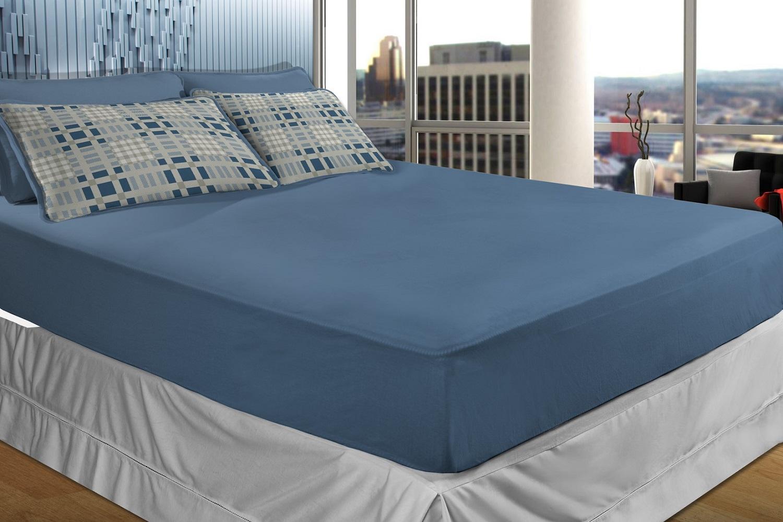 d6ba2fc4d4 Jogo de Cama Malha Casal 3 peças Schwambertex SBX RUBI Sonata Azul ...