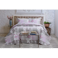 Kit Colcha Shabby Chic Queen Rozac Amor Perfeito